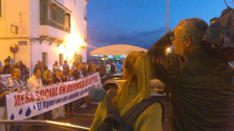 Manifestación contra la privatización de INALSA
